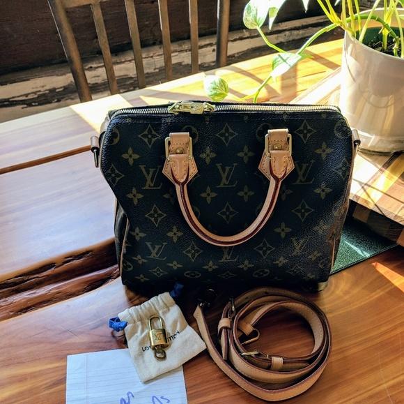 51e9e4111164 Louis Vuitton Handbags - Authentic 2017 Louis Vuitton Speedy B 25 Monogram